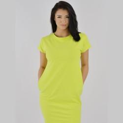 Letní úpletové šaty Tuba zelená