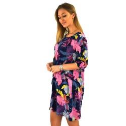 Letní šaty Tamara - tmavě modré