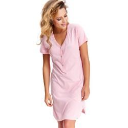 Těhotenská noční košilka Tereza pro kojení světle růžová