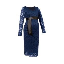 Krajkové těhotenské šaty TENUA tmavě modrá.