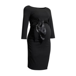 Těhotenské šaty Dacja New černé.