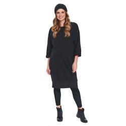 Těhotenské úpletové šaty LOVE černá.