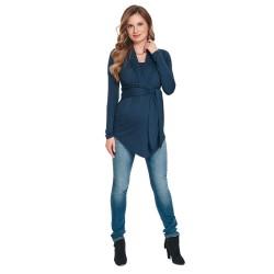 Těhotenská a kojící halenka FRACO tmavě modrá.