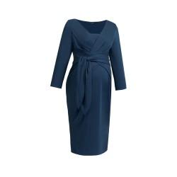 Těhotenské a kojící šaty Holly New tmavě modré.