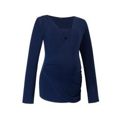 Těhotenská a kojící halenka DELESTINE tmavě modrá.