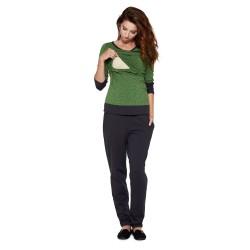 Sportovní těhotenská a kojící halenka MONIC zelená.