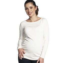 Těhotenská halenka BAFIA krémová.