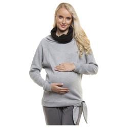 Těhotenská a kojící mikina GOLF šedá