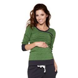 Sportovní těhotenská a kojící halenka MONIC zelená