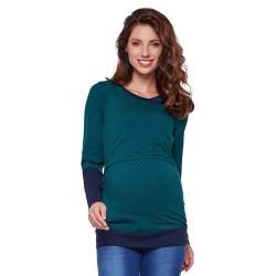 Těhotenská a kojící halenka MONIC smaragdová