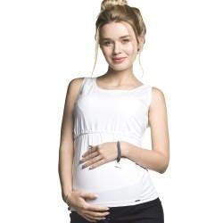 Těhotenské a kojící tílko Auril bílé