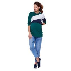 Těhotenské a kojící triko FRANKY smaragdová