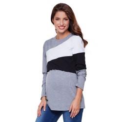 Těhotenské a kojící triko FRANKY šedá