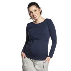 Těhotenská a kojící halenka SAMI tmavě modrá
