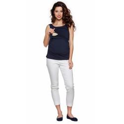 Těhotenské a kojící tílko SIMPLE tmavě modré