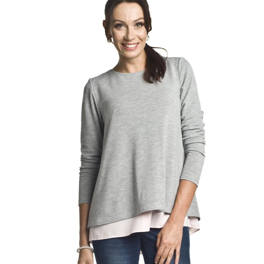 Těhotenský a kojící svetr Etien šedý