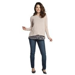 Těhotenský a kojící svetr ETIEN béžová