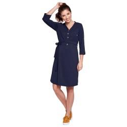 Těhotenské a kojící šaty ALISON tmavě modrá.