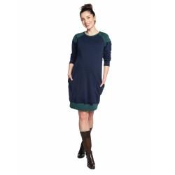 Těhotenské a kojící šaty SPORTISSIMA modrá smaragd.