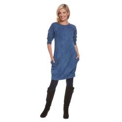 Těhotenské a kojící šaty SPORTISSIMA světle modrá.