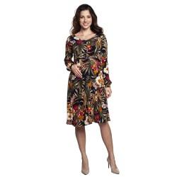 Těhotenské a kojící šaty RACHEL květinový vzor.