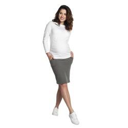 Úpletová těhotenská sukně MOLA šedá.