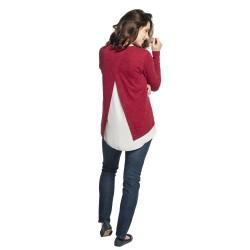 Těhotenský a kojící svetr ETIEN vínová
