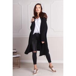 Oversize svetr dlouhý Megg černá