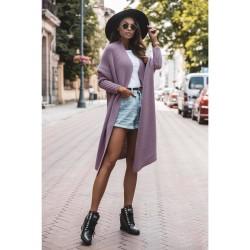 Oversize svetr dlouhý Megg fialová