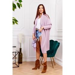 Oversize svetr dlouhý Megg starorůžová