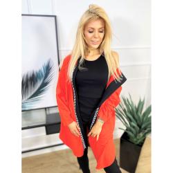 Sportovní kabátek Bora se zipy na bocích červená