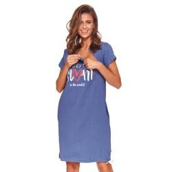 Těhotenská noční košilka Iris pro kojení indigo