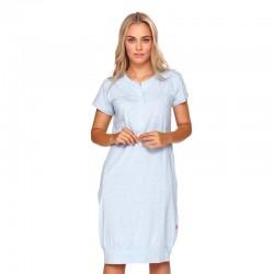 Těhotenská noční košilka Kristýna pro kojení modrá melange