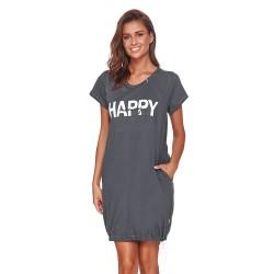Těhotenská noční košilka Elean H  pro kojení grafit