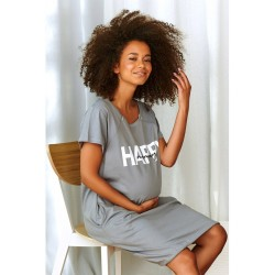 Těhotenská noční košilka Elean H  pro kojení šedá