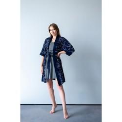 Župánek Miracle kimono tmavě modrá.